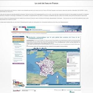 Information : le coût de l'eau en France