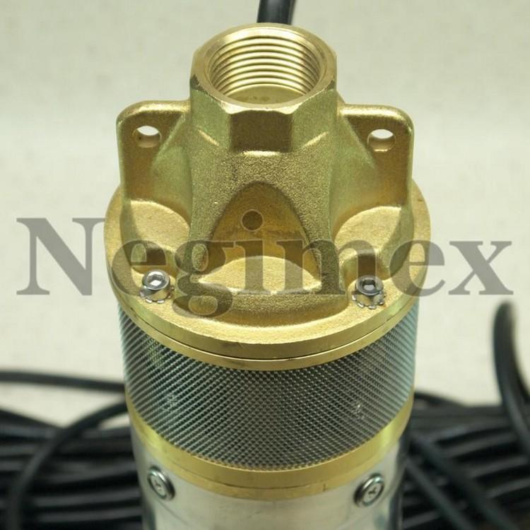 Pompe à eau immergée X73 - sortie de pompe et crépine d'aspiration