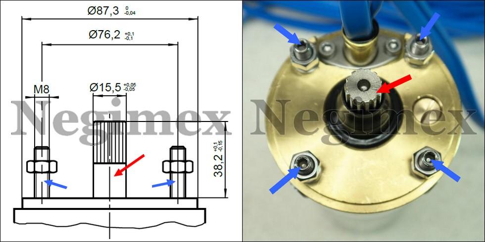 Schéma du standard NEMA d'une pompe immergée de 4 pouces