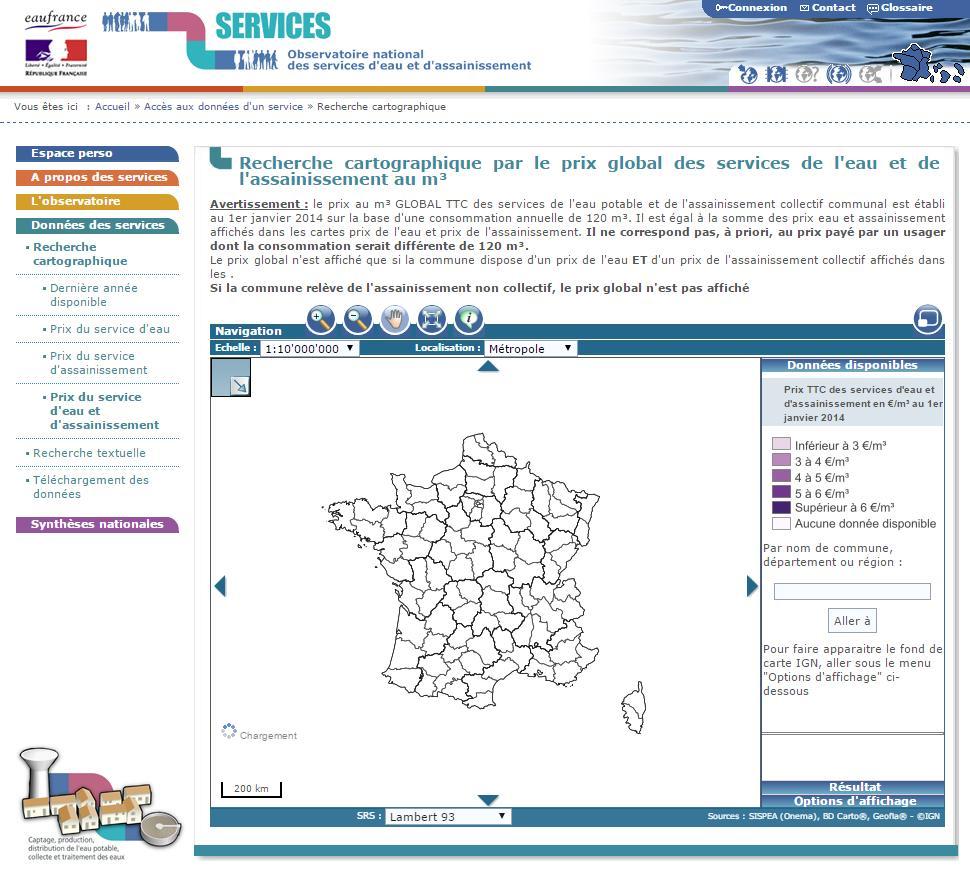 Le coût de l'eau en France - Observatoire national des services d'eau et d'assainissement