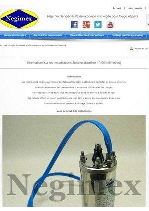 Caractéristiques et détails des moteurs Stelanox